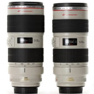 Canon 70-200mm F2.8 L IS Mark I & Mark II