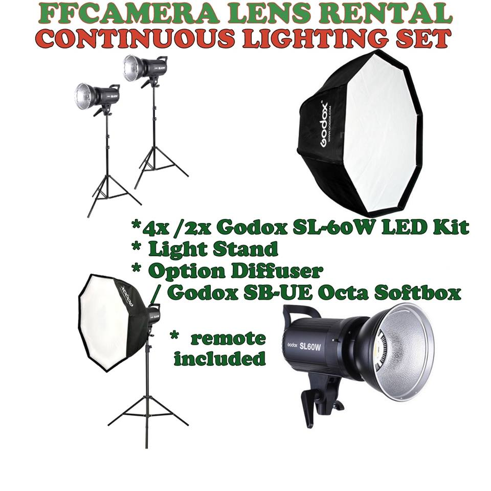 Continuous Lighting Set for Rental!